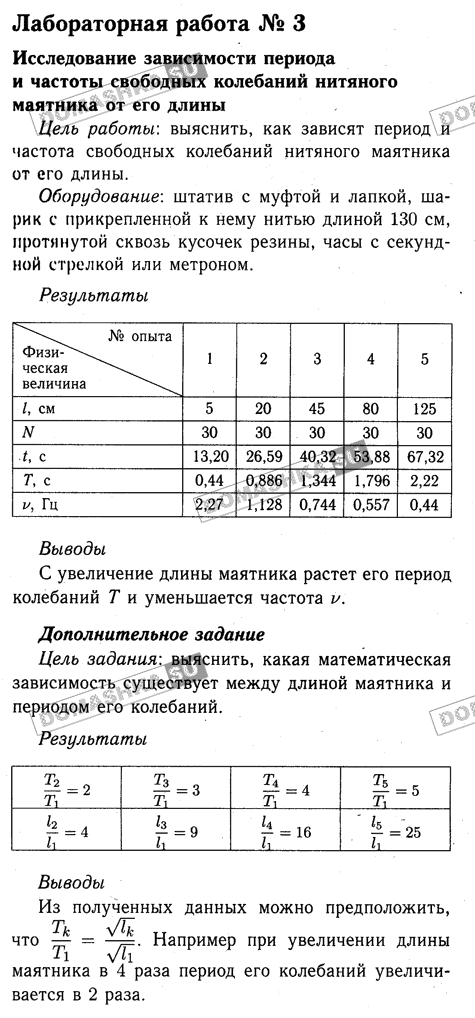 ГДЗ решебник по физике 7 класс рабочая тетрадь Пурышева Важеевская
