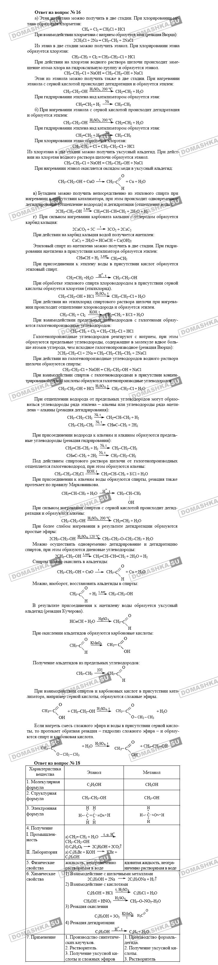 г.е.рудзитис ф.е.фельдман химия 10 класс гдз