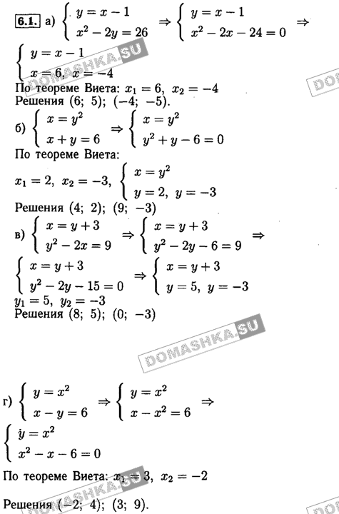 Гдз по алгебре мордкович и семёнов 9 класс