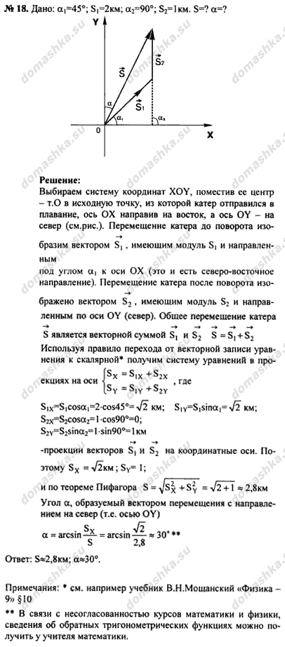 Задание 18 физика 9 класс