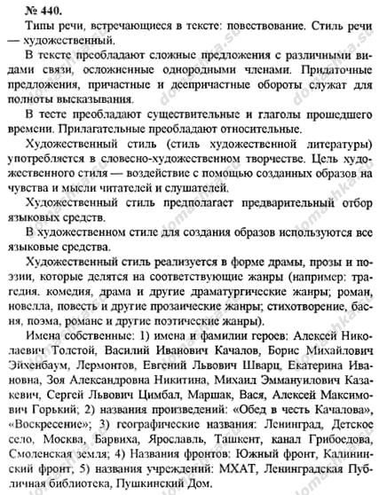 русский грамматика по класс речи 10-11 гдз текст стили