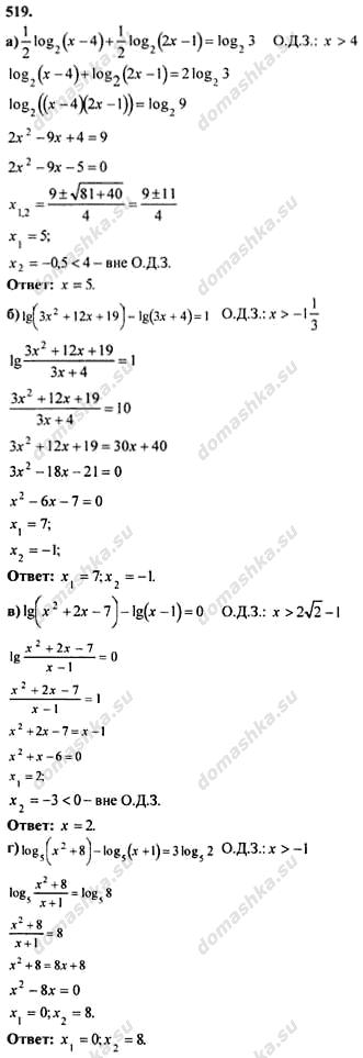 Алгебра 11 Класс Колмогоров ГДЗ Задачи на Повторение
